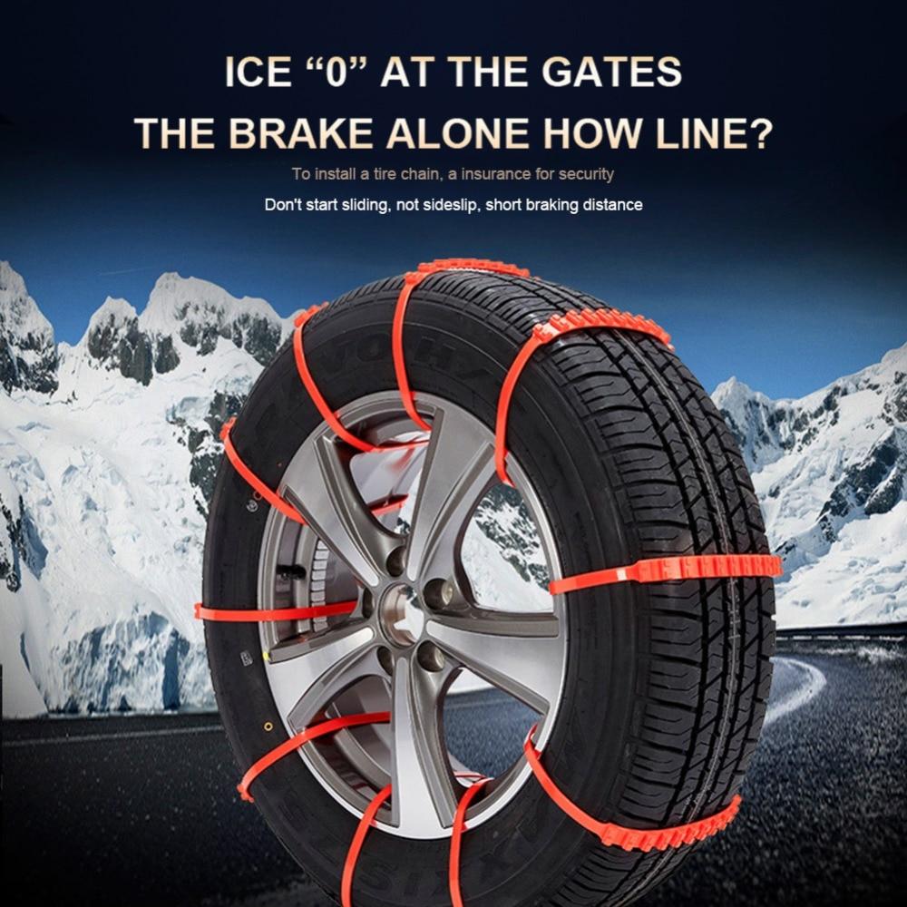 Catene da Neve per Catene Catene da Neve universali Catene Antiscivolo di Emergenza in Acciaio Inossidabile per Auto SUV Camion
