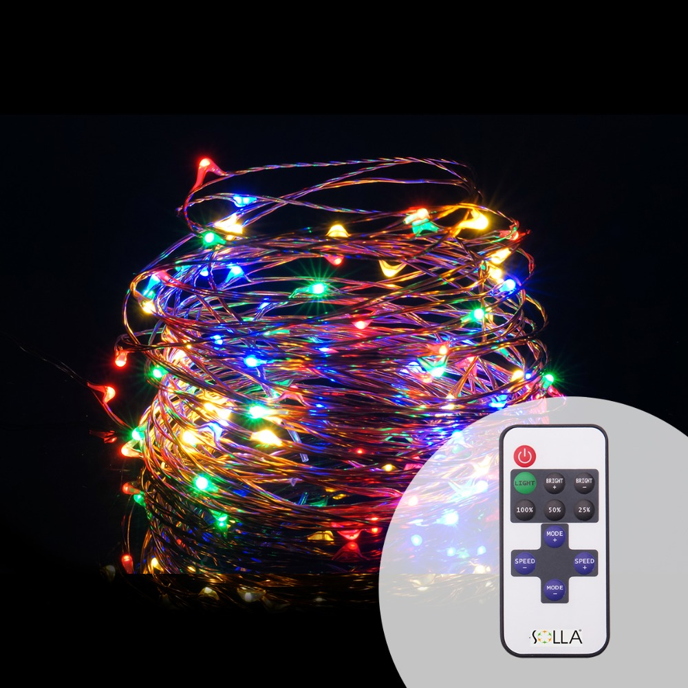 10m 100 led 5v usb christmas lights copper wire fairy string light wedding decoration dimmable flash remote controllerreciever in led string from lights