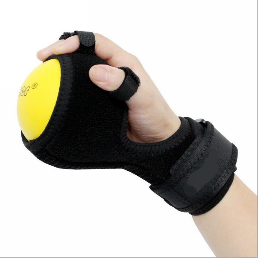 Deluxe Anti Spasticity Ball Splint Hand Functional Impairment Finger Orthosis Hand Ball Stroke Palsy Rehabilitation Exercise-in Braces & Supports from Beauty & Health