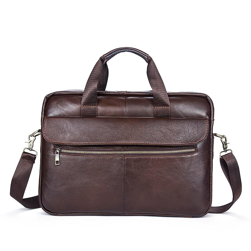 5d3300f61b4c Сумка Для мужчин Портфели телячья кожа мужской ноутбука Бизнес сумки  Повседневное сумки молния человек Кроссбоди кожа