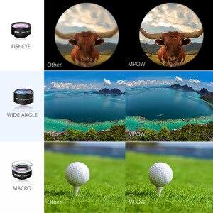 Image 4 - MFE4 Mpow 3 en 1 Kits de lentilles de téléphone portable clipsables objectif Fisheye 180 degrés + objectif grand Angle 0.36X + objectif Macro 20X 3 objectifs séparés