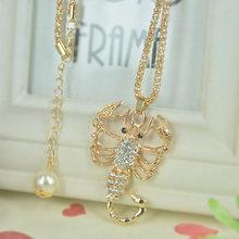 Свитер с бисером и скорпионом ожерелье ювелирное изделие Кристалл