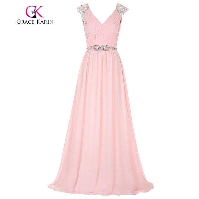 Abschlussball kleider lang rosa