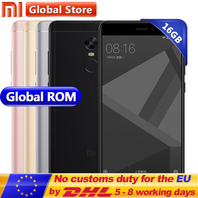 "Original Xiaomi Redmi Note 4X 16GB ROM 3GB RAM Mobile Phone Redmi Note4X 3GB 16GB Snapdragon S625 Octa Core 5.5"" 1920*1080"