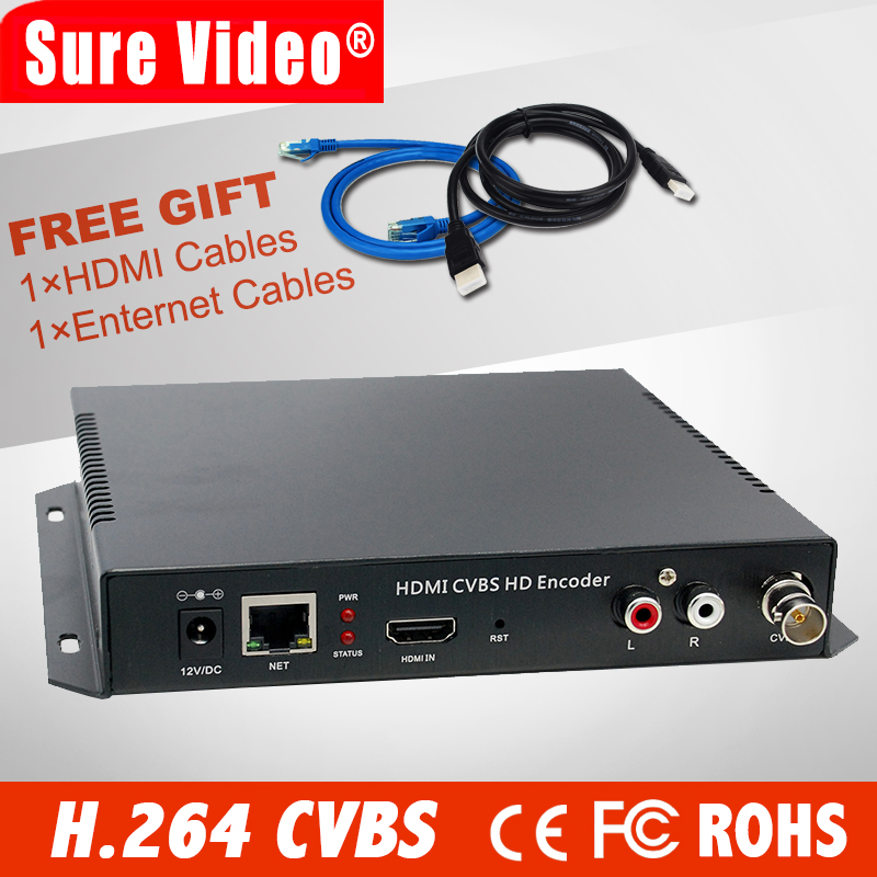 H.264 Mpeg-4 Avc Hdmi + Cvbs Video Encoder Server Für Live-streaming Youtube Wowza Facebook Mit Rtsp Rtmp Http Udp Protokoll QualitäTswaren