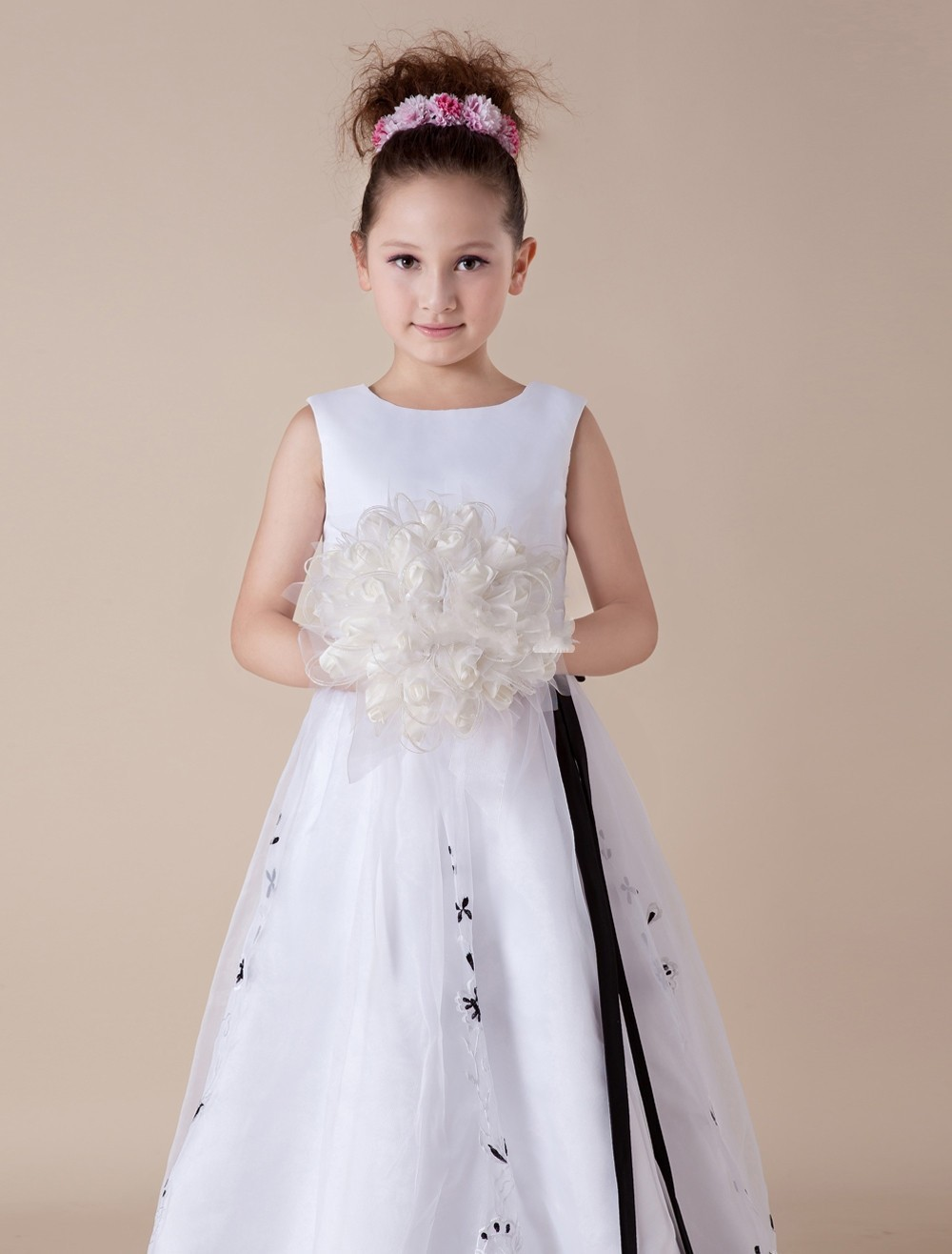 Vestidos Infantil Flower Girl Dresses For Weddings Black And White