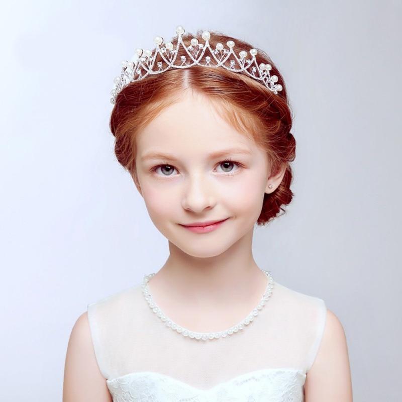 Brand Crystal Tiara Hairband Kid Girl Bridal Princess Prom Crown Party Accessories Children Princess Prom Crown