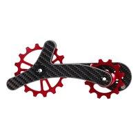 Bike Derailleur Pulley Bicycle Rear Jockey Wheel Set 16T+12T Ceramic Bearing Guide Roller Idler Lightweight Carbon Fiber
