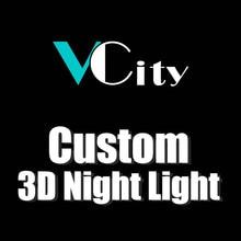 3D Night Light Led Customized Design Pattern Lamp Team Logo Custom Gifts for Friends Lighting Flashlight