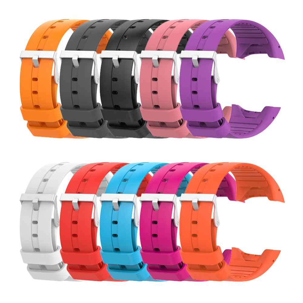 ALLOYSEED Silicone Replacement Wristband Watch Band Strap For Polar M400 M430 GPS Sports Watch Bracelet Wrist Strap Watchband