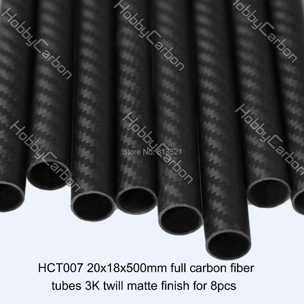 HCT007 hobby carbon  8pcs/pack 20x18x500mm 100% carbon fiber 3k twill matte tubes 1sheet matte surface 3k 100% carbon fiber plate sheet 2mm thickness
