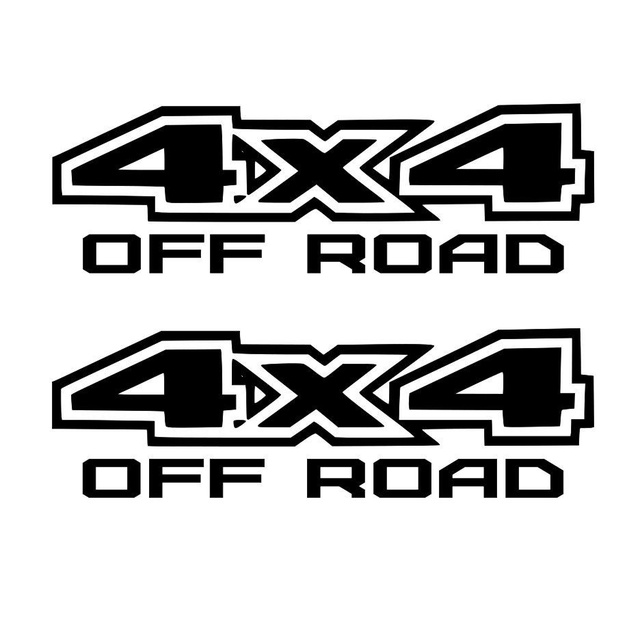 Car Styling For 4pcsset Flat 4x4 Off Road Decal Sticker Ford Gmc