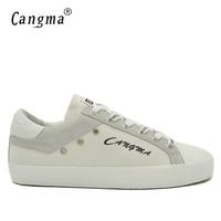 CANGMA Traspirante Canvas Sneakers Scarpe Uomo Handmade Italiano Designer Confort Mens Retro Calzature Appartamenti Bianche Scarpe Maschili