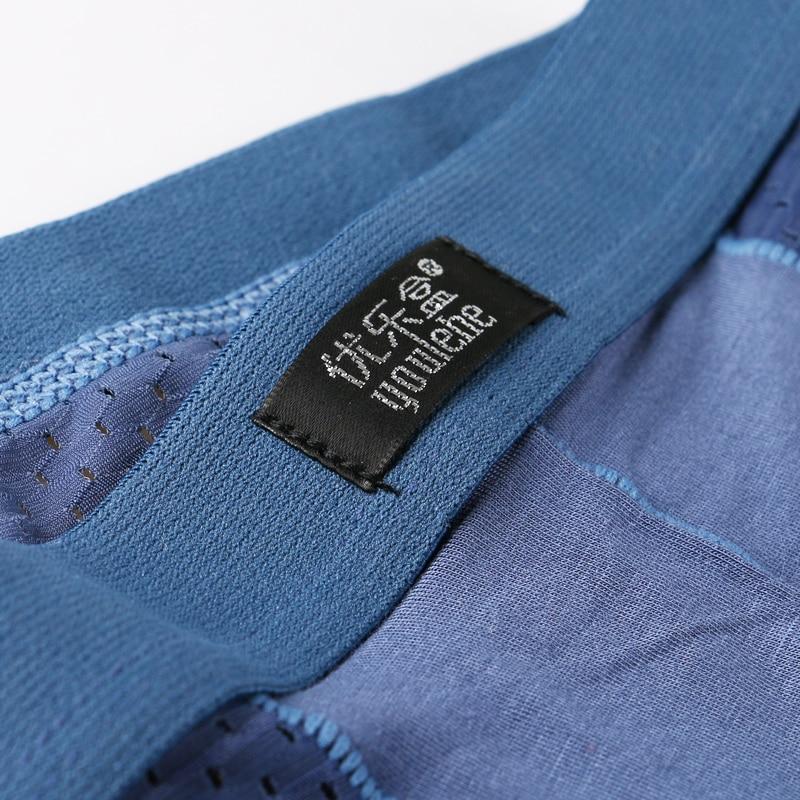 2017 Cool Summer Ice Silk Men's Boxer Shorts Best Selling Super Breathable Mesh Brand Men Underpants 4PCS/LOT M550