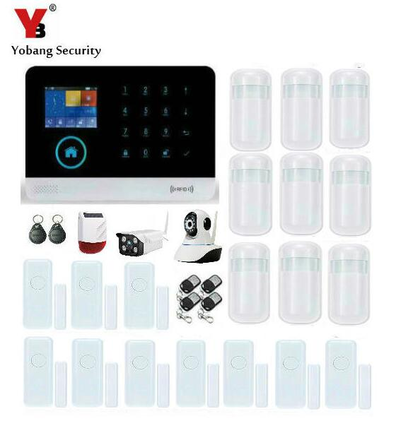 YobangSecurity Wifi GSM GPRS Home Burglar Security Alarm System Solar Power Siren Ip Camera with RFID Smoke Fire Detector APP yobangsecurity wireless wifi gsm gprs rfid home security alarm system with ip camera solar power outdoor siren smoke detector