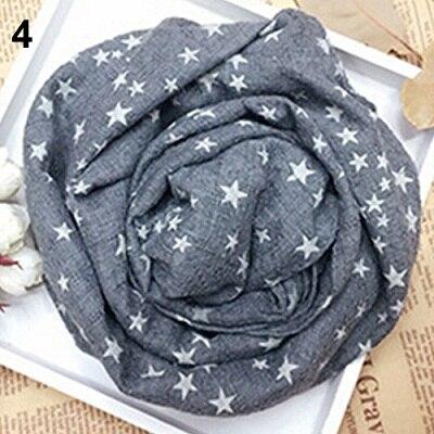 Горячая Распродажа; детская теплая шаль со звездами и пентаграммой для девочек; сезон осень-зима; подарочные накидки; мягкий шарф; N83Y 7FYA - Цвет: 4