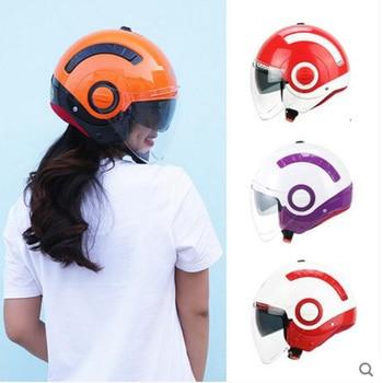 2019 New Knight protection YOHE Retro 3/4 Face Motorcycle Helmet MINI  Double lens Motorbike Helmets made of ABS PC Lens Visor