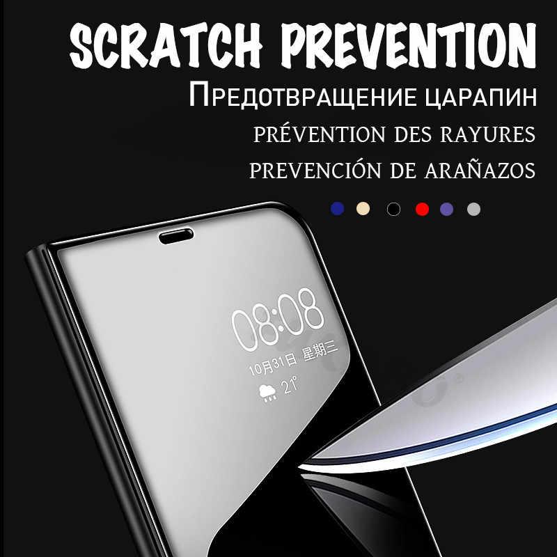 Luxury Flip Standing Case For Xiaomi mi 9 A2 8 Lite A1 6X 5X Mirror Leather Case For Redmi 7 Note 7 6 Pro 5 Plus 6A 4 4X Cover