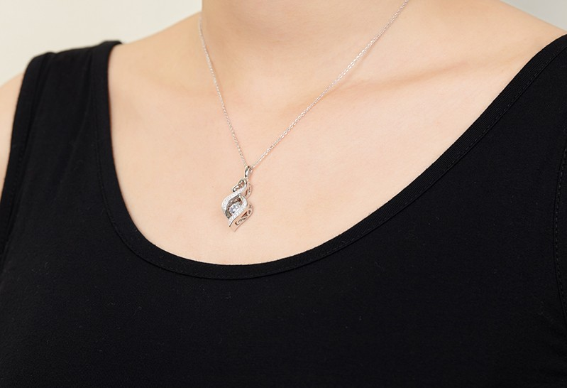 for sterling silver jewelry necklace for women wedding DP18310A (8)