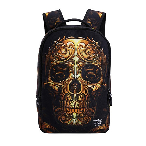 2017 New Arrival Unisex Vintage Punk Skull Print Backpack Double Shoulder Travel Bag Schoolbag Hot Selling High Quality Gift for hp 920 ink cartridge for hp920 920xl officejet 6000 6500 wireless 6500a 7000 7500 7500a printer