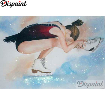 Dispaint Full Square/Round Drill 5D DIY Diamond Painting Skating beauty 3D Embroidery Cross Stitch Home Decor Gift A18402
