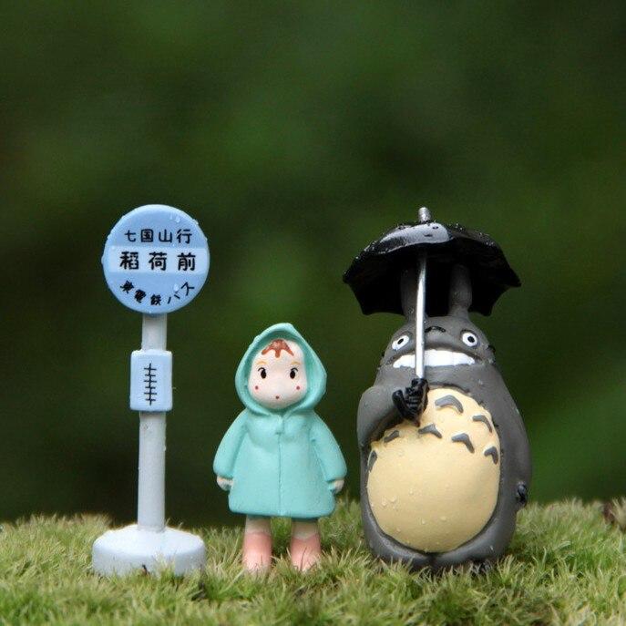 Feengarten Gnom / Mini Totoro / Mini Bushaltestelle / Bryophyten Dekoration / Harz Handwerk / Liebhaber Geschenke / Bonsai / Terraium Dekoration