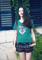 Aporia AS Spring Summer Europe And America Style Breif O Neck Short Sleeve Animal Print Casual