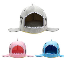 DSOFT Dog House Shark For Large Dogs Tent High Quality Cotton Small Dog Cat Bed Puppy House Pet Product(China)