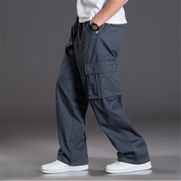Mens Baggy Pants Big Size Multi Pocket Military Overalls Outdoors High Quality Cargo Long Trousers 5XL
