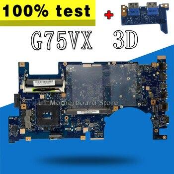 send board+G75VX Motherboard REV2.0 3D Connector PGA989 For ASUS G75V G75VX Laptop motherboard G75VX Mainboard G75VX Motherboard