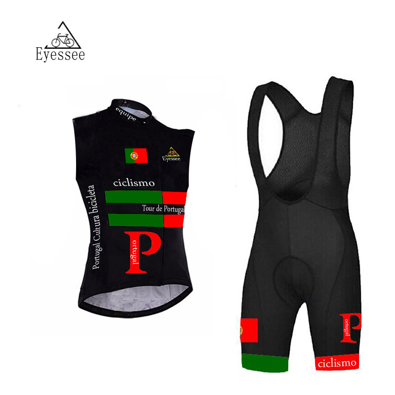 Portugal cycling clothing Ropa Ciclismo 2018 Eyessee summer ciclismo professional sleeveless bicycle clothing