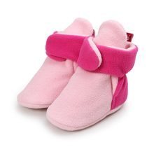 Comfortable Boots Cotton Soft Sole Winter Baby Shoes Toddlers Anti-skid Boots Sneakers Autumn Baby Girls Warn Leopard Boot Shoes(China)