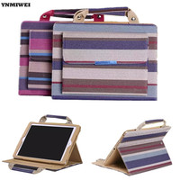 Stand Case For IPad 2 3 4 Colors Striped Handbag Portable Cover Case For Apple Ipad