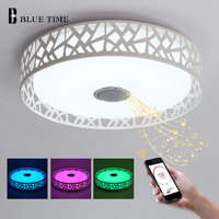 Creative Simple Modern LED Chandelier Lustre With Bluetooth Control Color Change Acrylic LED Ceiling Chandelier Lighting Fixture