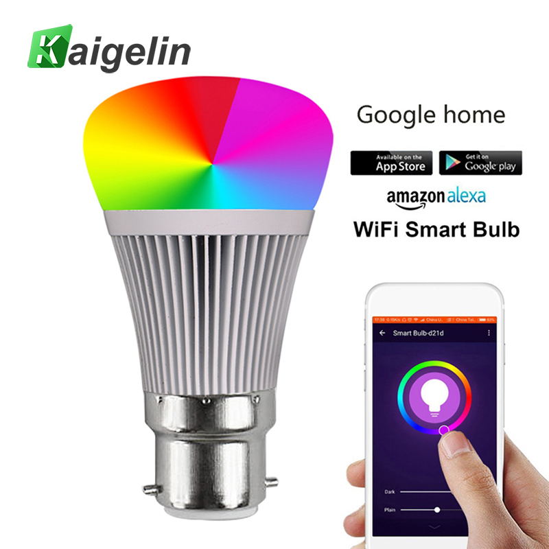 RGB-W Smart APP WIFI LED Bulb E27 B22 LED Lamp Bombilla LED Bulb E27 Ball Light Bulbs Colorful Bulb Lamp For Home Bar akdsteel colorful changing led crystal light bulb remote control 3w e27 rgb lamp for family birthday festival xmas bar club