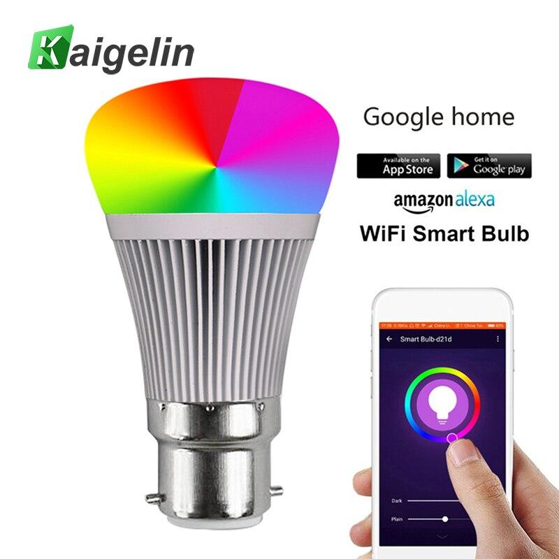 RGB-W Smart APP WIFI LED Bulb E27 B22 LED Lamp Bombilla LED Bulb E27 Ball Light Bulbs Colorful Bulb Lamp For Home Bar