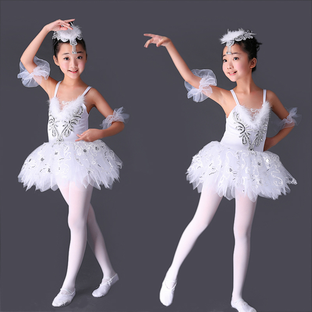 41f7eadbcefa Professional Tutu Ballerina Dress Kids White Swan Lake Ballet Costume Pink  Blue Yellow Ballet Dance Dress For Girls