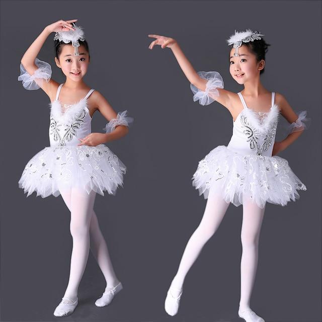 f487d70c2a Professional Tutu Ballerina Dress Kids White Swan Lake Ballet Costume Pink  Blue Yellow Ballet Dance Dress For Girls