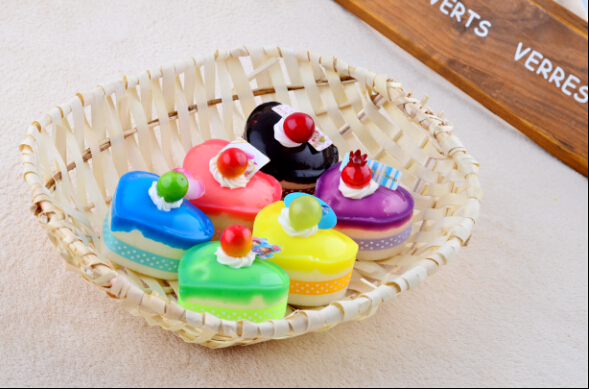 High artificial bread heart shaped cake pu material bread for Artificial bread decoration