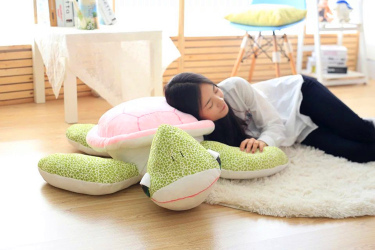 huge new creative turtle toy plush pink back turtle doll pillow gift about 110cm 2017 new arriving 40cm big eyes turtle plush toy turtle doll turtle kids as birthday christmas gift free shipping
