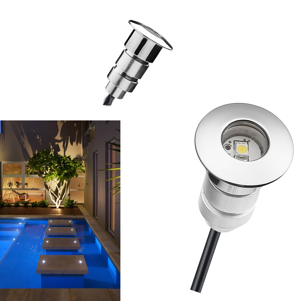Fashion Style 10pcs/set For Atmosphere Garden Waterproof Ip67 Outdoor Lighting Low Voltage Step Light Dc12v 0.6w Input Voltage 85-264v Perfect In Workmanship Led Underground Lamps