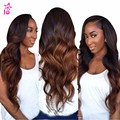 Beach Waves Body Wave Brazilian Hair Queen Hair Products Ombre Honey Blonde Human Hair 4 Bundles Meches Bresilienne Lots Soft