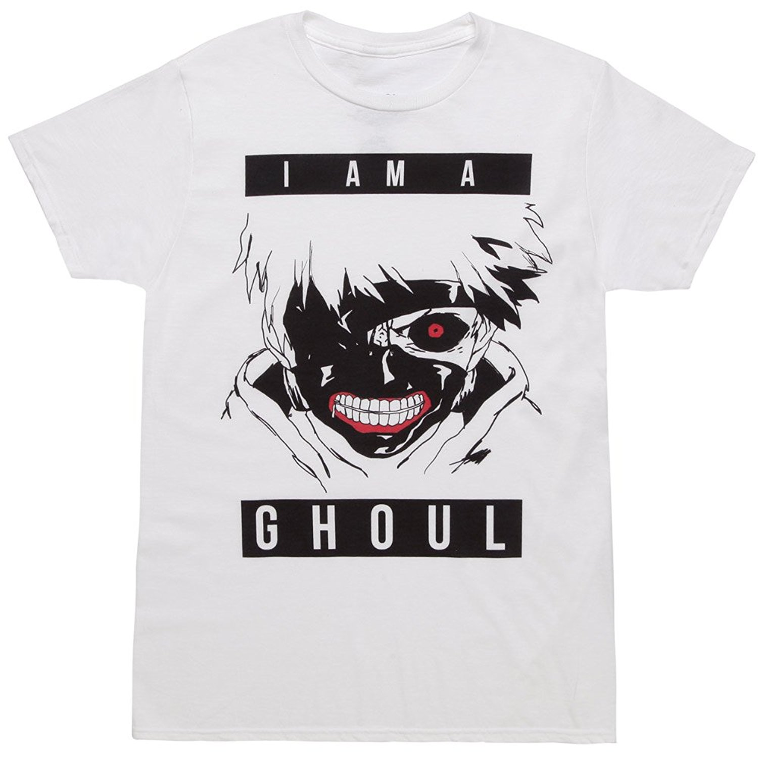 Tokyo Ghoul: I Am A Ghoul Mens White T-Shirt Printed Summer Style Tees Male Harajuku Top Fitness Brand Clothing T Shirt