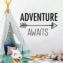 цена на New adventure awaits Wall Sticker Removable Wall Stickers Diy Wallpaper For Kids Rooms Home Decoration