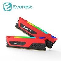 Ramsta 2 шт. RGB света 8 ГБ 16 ГБ DDR4 банк памяти 3200 мГц компьютерных аксессуаров геймер модуль жесткого диска для рабочего ноутбука Тетрадь PC