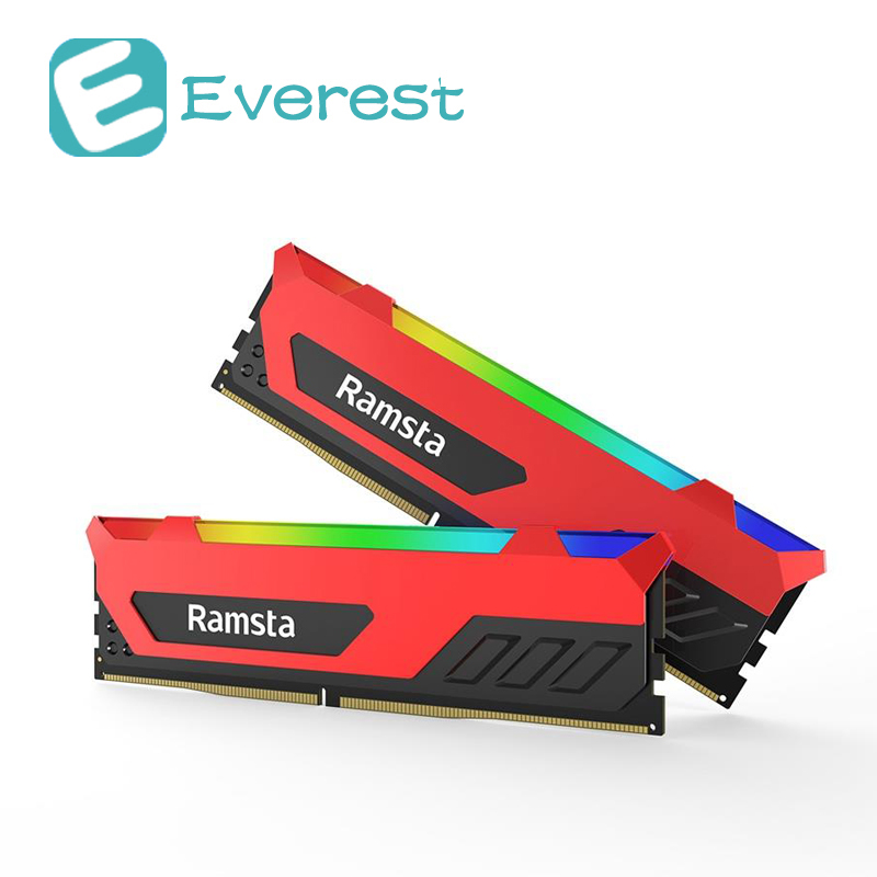 все цены на Ramsta 2Pcs RGB light 8GB 16GB DDR4 Memory Bank 3200MHz Computer Accessory Gamer Module Hard Disk for Desktop laptop Notebook PC онлайн