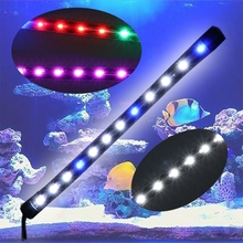 Submersible Waterproof Aquarium Fish Tank 6W LED Light Bar Lamp Strip EU Plug Aquatic Pet Lightings Push switch