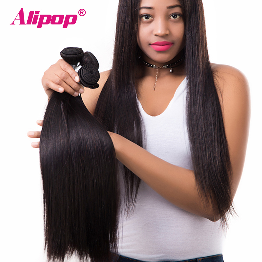 Alipop Malaysian Straight Hair Bundles Remy Hair Weave
