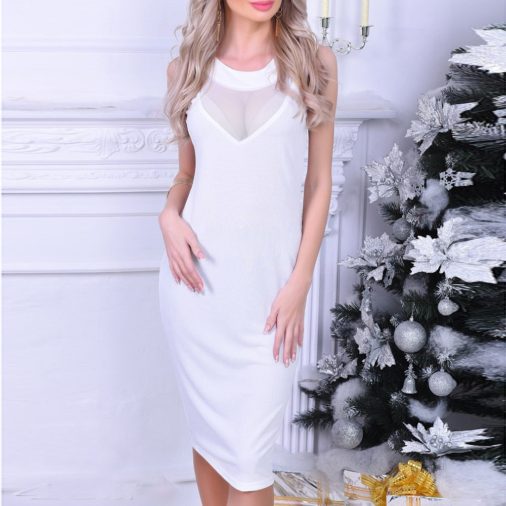 Womail <font><b>2018</b></font> Women's <font><b>Sleeveless</b></font> <font><b>Dresses</b></font> Robe <font><b>Sexy</b></font> Sheath Slim <font><b>Bodycon</b></font> <font><b>Dress</b></font> <font><b>Night</b></font> <font><b>Club</b></font> Elegant Vestidos Women Clothing image