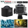 Frete grátis! X6S Panorâmica 360 graus Wi-fi Câmera 2448*2448 Câmera de Ação Esporte Apoio Modo VR + Remoto